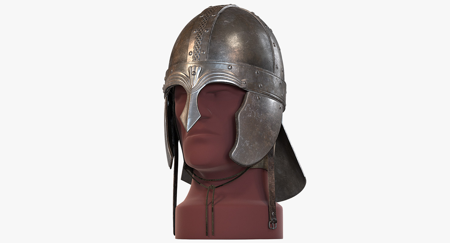 3d spangen helmet medieval model