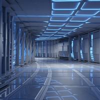 Sci Fi Futuristic Tunnel 08