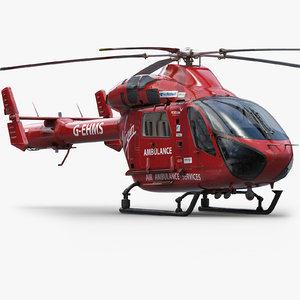 md902 medical helicopter 3d obj