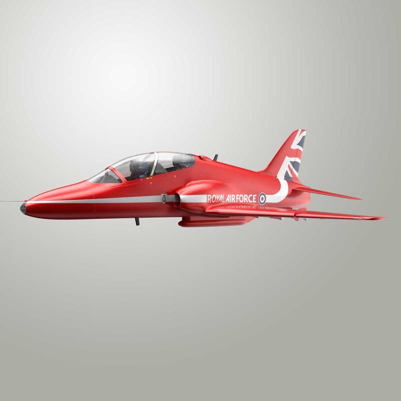 3d model british aerospace hawk red arrows