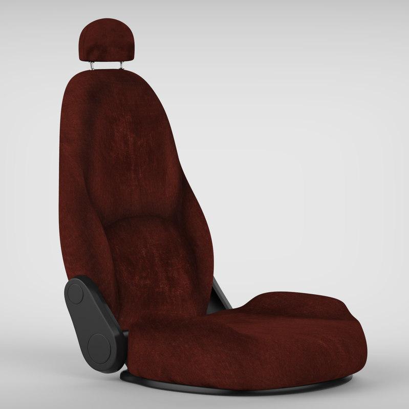3d car chair old
