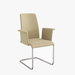 3d model 2063 luma armchair patric