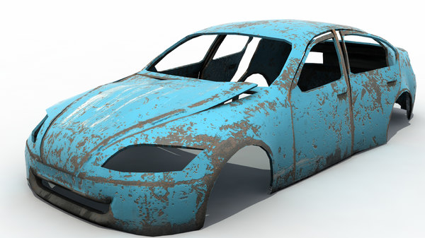rusted wrecked car max