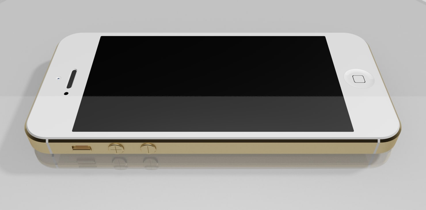 apple phone 3d obj