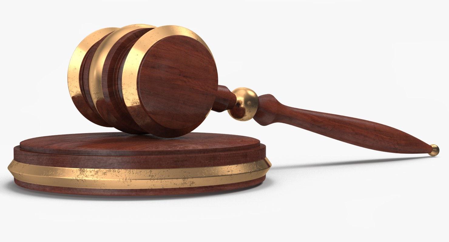 3d max judge auction gavel