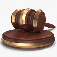 3d max judge auction gavel