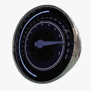 3d model of speedometer meter