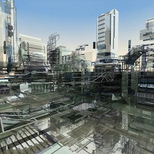 abstract futuristic obj