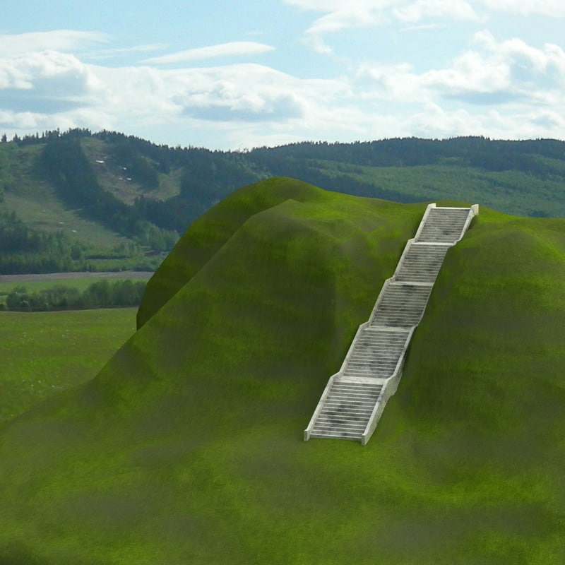 dxf long stairs