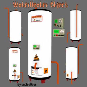 3d water heater model