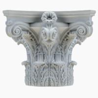 3d model column capital 44