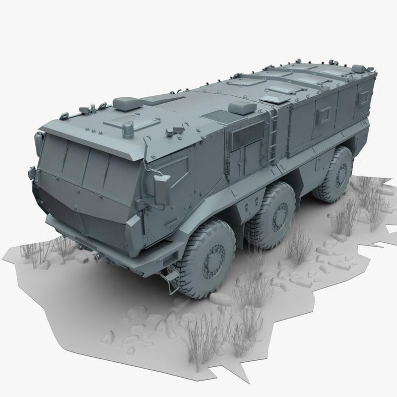 3d model kamaz typhoon
