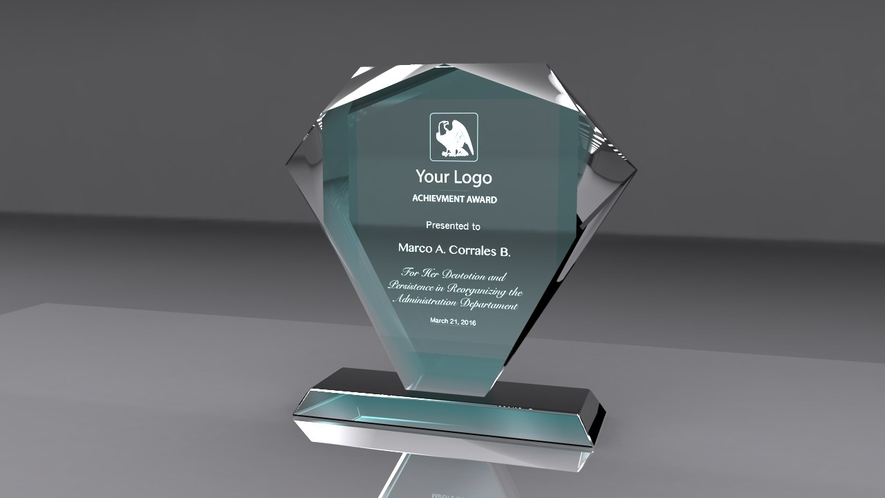3d model award glass