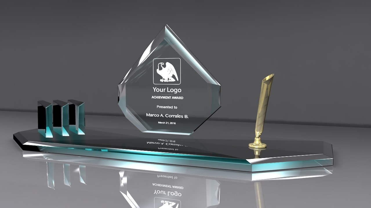3d award glass