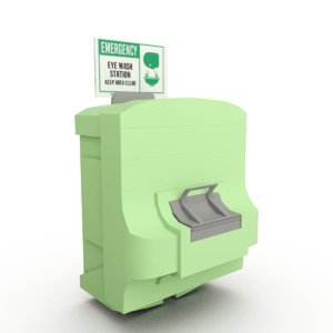 3d model industrial eye wash station