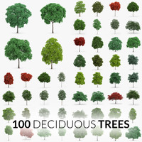Deciduous Trees Collection - 100 Trees