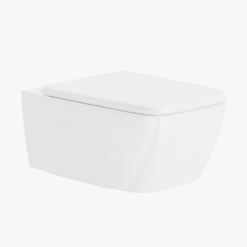 rectangular toilet seat 3d obj