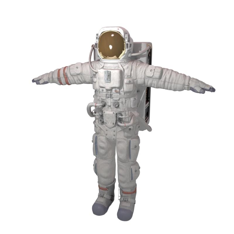 3d model of astronaut blender