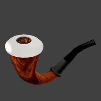 wooden calabash pipe 3d model