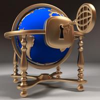globe 3d max