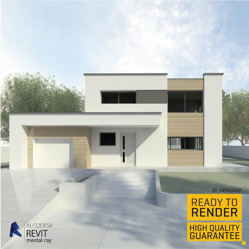 family house 3d rvt