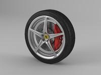 3d model 458 wheel tire