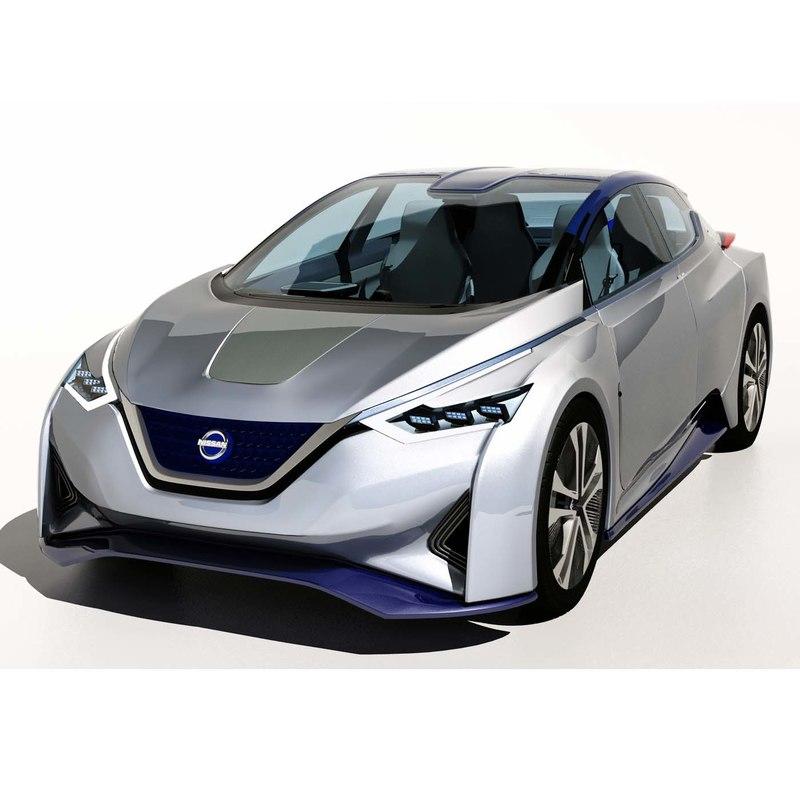 3d nissan ids concept car model