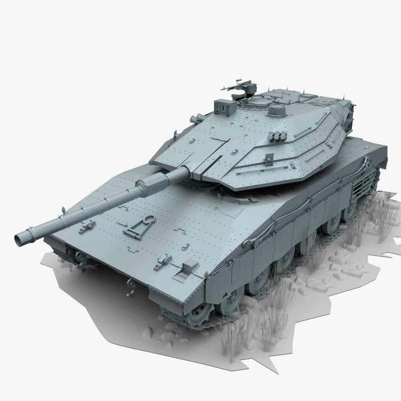 merkava iv 3d model