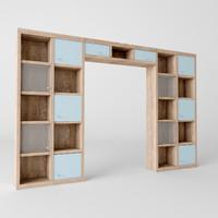 rack shelving shelf 3d x