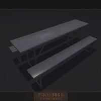 3d model metal table