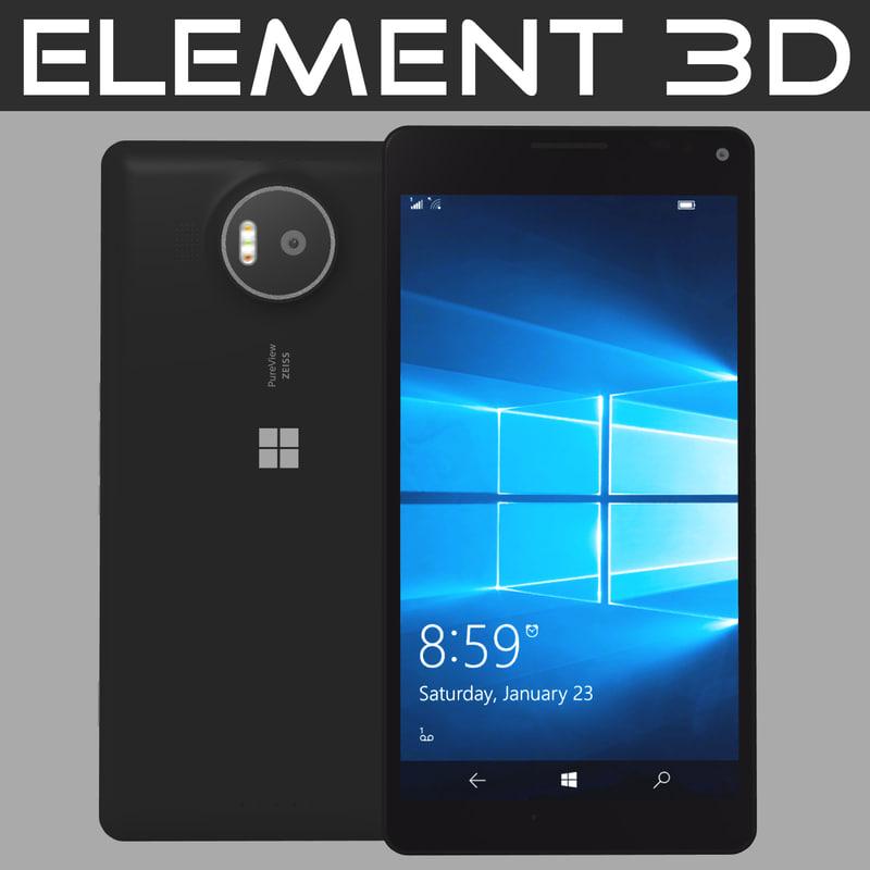 3d model realistic element microsoft lumia