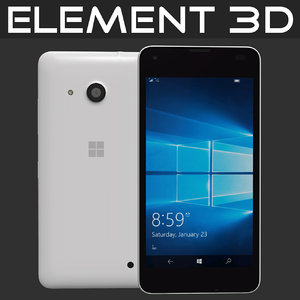 realistic element microsoft lumia 3d model