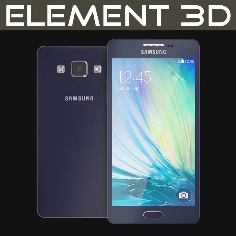realistic element samsung a5 3d model