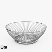 wire basket alessi 3d 3ds