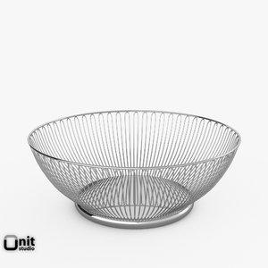 wire basket alessi 3d 3ds