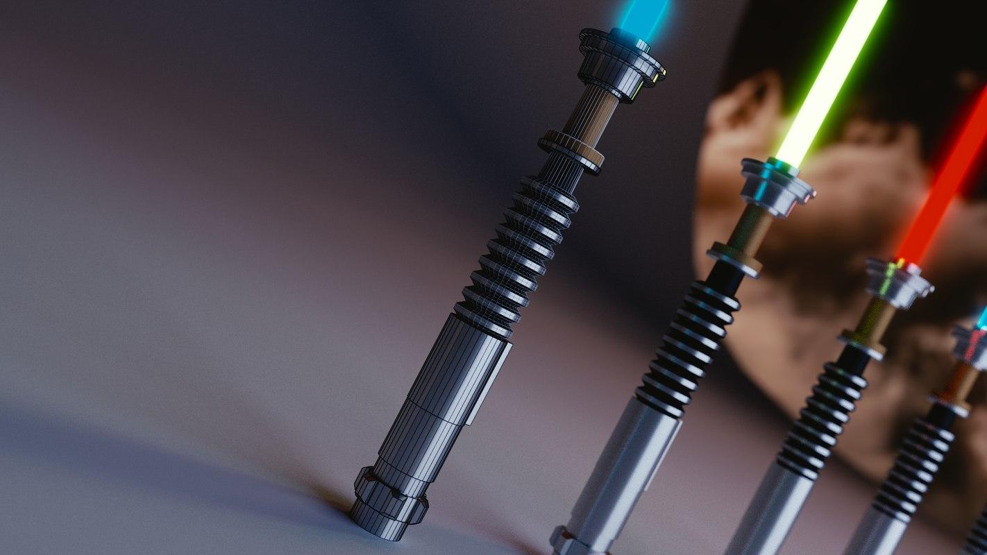 light saber 3d obj