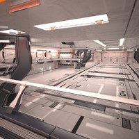 Sci Fi Hangar Interior