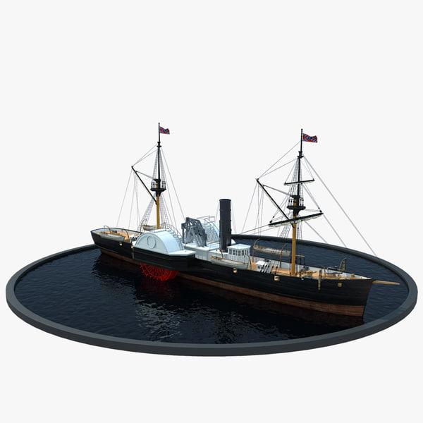 3d model confederate prop