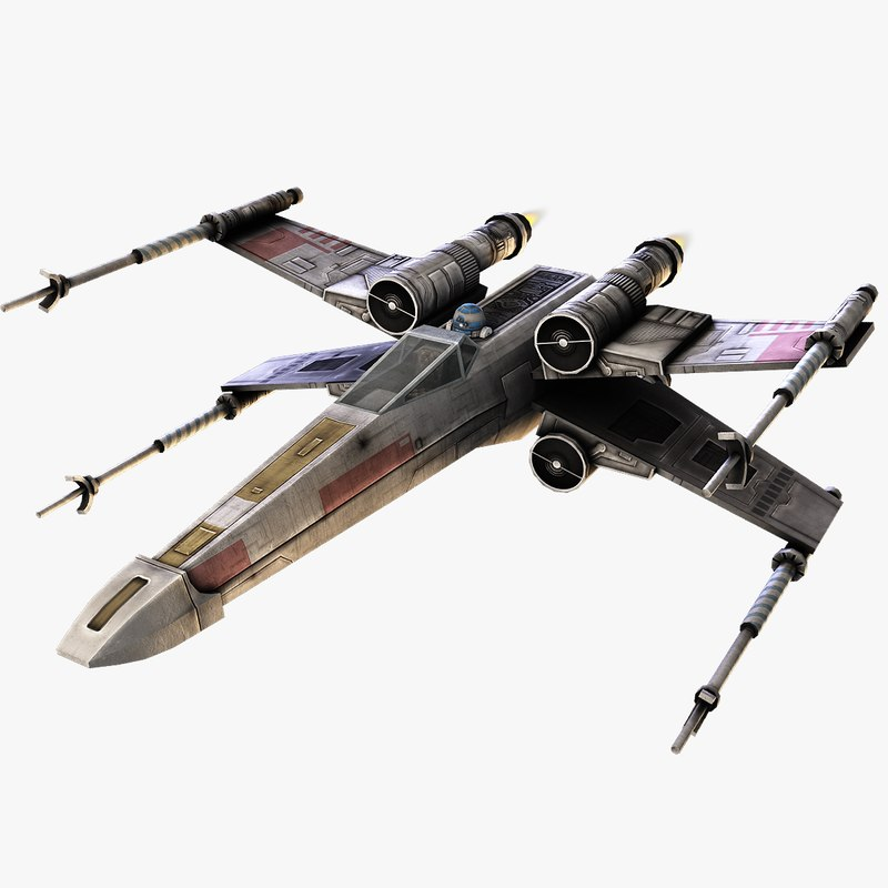 3d model x-wing fighter x