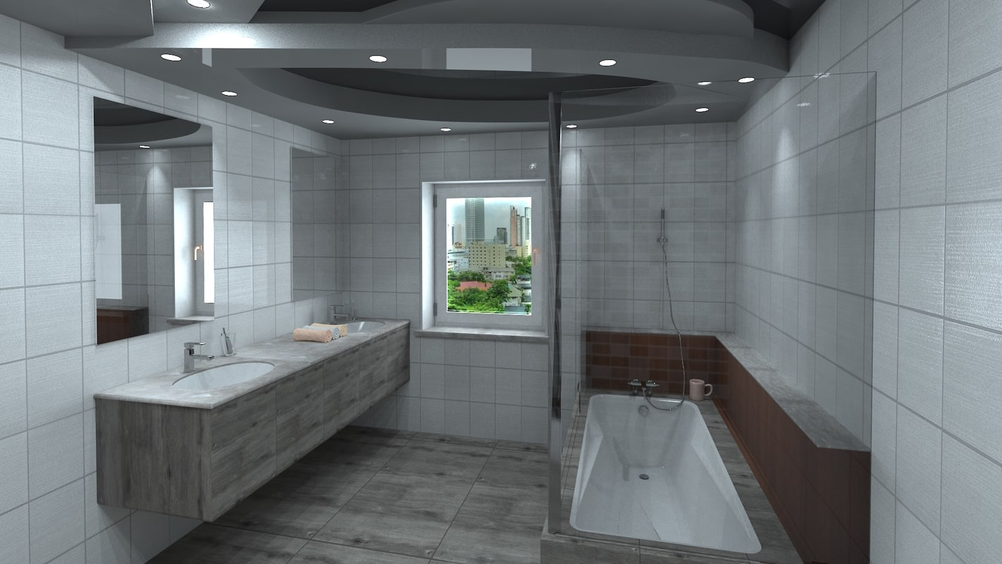 obj modern bathroom