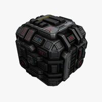 sci fi space 3d max