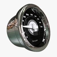 speedometer meter 3d obj