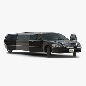 stretch car limousine black max