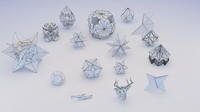 3d origami geometric