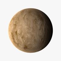 venus planets 3d model