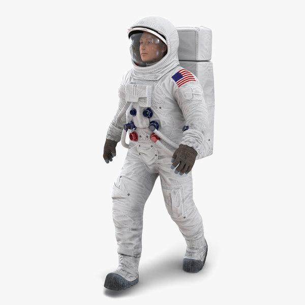 astronaut nasa wearing spacesuit 3d model