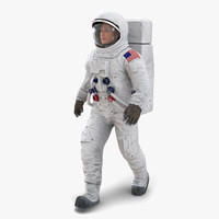 astronaut nasa wearing spacesuit 3d model