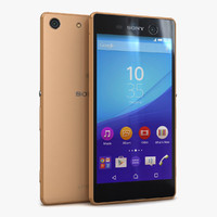 3d sony xperia m5 gold