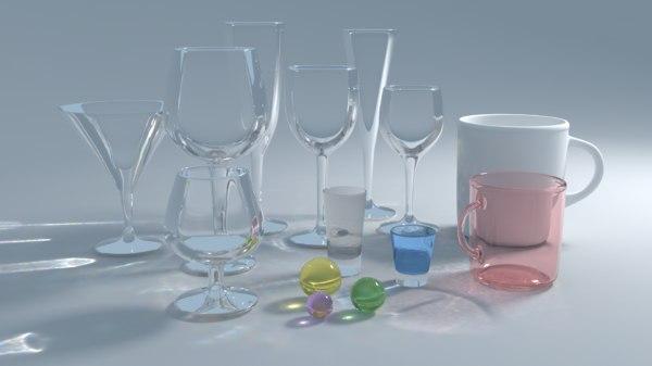 glass tea cup 3d model