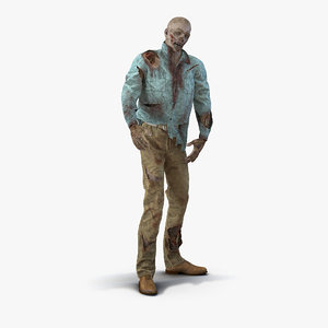 3d zombie rigged modeled model